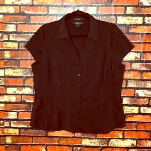 Size 16 Style & Co Stretch Black Blouse